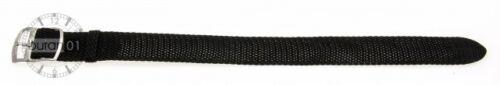 XXL-Uhrenarmbänder-Textil aus Perlon mit Edelstahl-Schließe schwarz 16mm18mm20mm