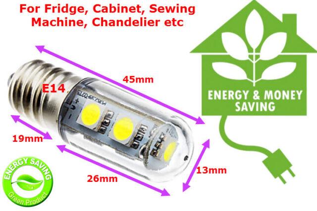 240v 1W LED Mini Bulb E14 SES Lamps for Fridge, Cabinet Refrigrator Warm White