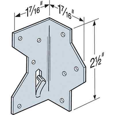"""Simpson Strong-Tie A34 1-7//16/"""" x 2-1//2/"""" Framing Angle Pack of 10"""