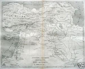Nahost Karte.Details Zu Babylonien Karte Babylonian Empires Iraq 1850 Map Zypern Nahost Iran