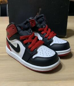 info for 4b25a aa052 Details about Nike Air Jordan 1 Black Toe Red 6c Off White III Chicago  Travis Scott Bred Baby