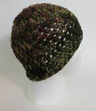 crochet zac brown band style hat camo black beanie cap, winter men or women