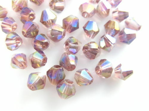 4mm 100-500Pcs Glass Crystal Faceted Bicone Beads 4mm Craft Spacer Jewelry Gift