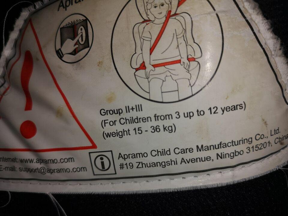 Autostol, op til 36 kg , andet mærke 15-36 kg