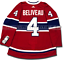 JEAN-BELIVEAU-MONTREAL-CANADIENS-HOME-AUTHENTIC-PRO-ADIDAS-NHL-JERSEY miniature 4