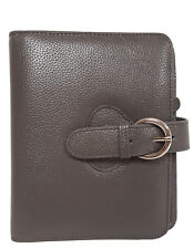 Franklin Covey Leatherava Compact Binder Charcoal