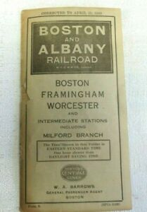 Antique-Boston-amp-Albany-Railroad-New-York-Central-Lines-to-Schedule-Dec-25-1920