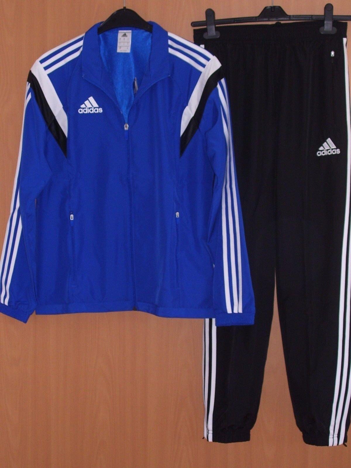 Adidas Herren Condivo 14 Präsentationsanzug Blau Weiß,Adidas