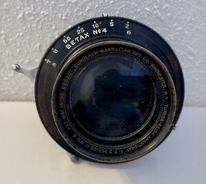 Turner Reich Anastigmat F/7.5 Series II #6 Lens in Working Betax No. 4 Shutter
