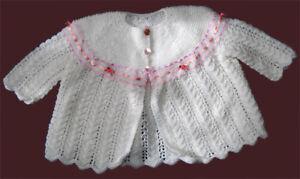 Baby-Matinee-Coat-Knitting-Pattern-Beautiful-DK-4P