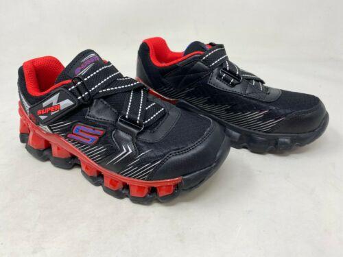 Boys Toddler Skechers 90294 S Lights Flashpod New Skirmish Sneakers Blk//Rd D48