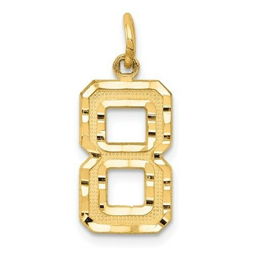14K SOLID YELLOW gold NUMBER CHARM  PENDANT  0.87 GRAMS  0.86 INCH