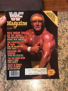 Details About Wwf Magazine October 1988 Hulk Hogan Rare Wwe Macho Man Big Boss Man Elizabeth
