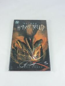 BATMAN-Harvest-Breed-HC-Hardcover-Signed-by-George-Pratt-with-COA-DC-Comics-2000