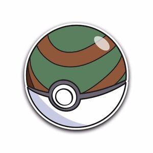 nest poke ball pokemon go decal sticker vinyl car macbook waterproof