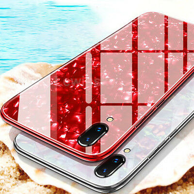 pretty nice 335c4 69054 For iPhone X XS MAX XR 8 7 Plus Luxury Shockproof Glass Ultrathin Hybrid PC  Case | eBay