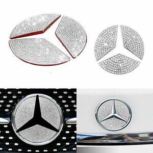 Diamond Rhinestones Front Grill Emblem Sticker For Mercedes Benz GLC Class X253