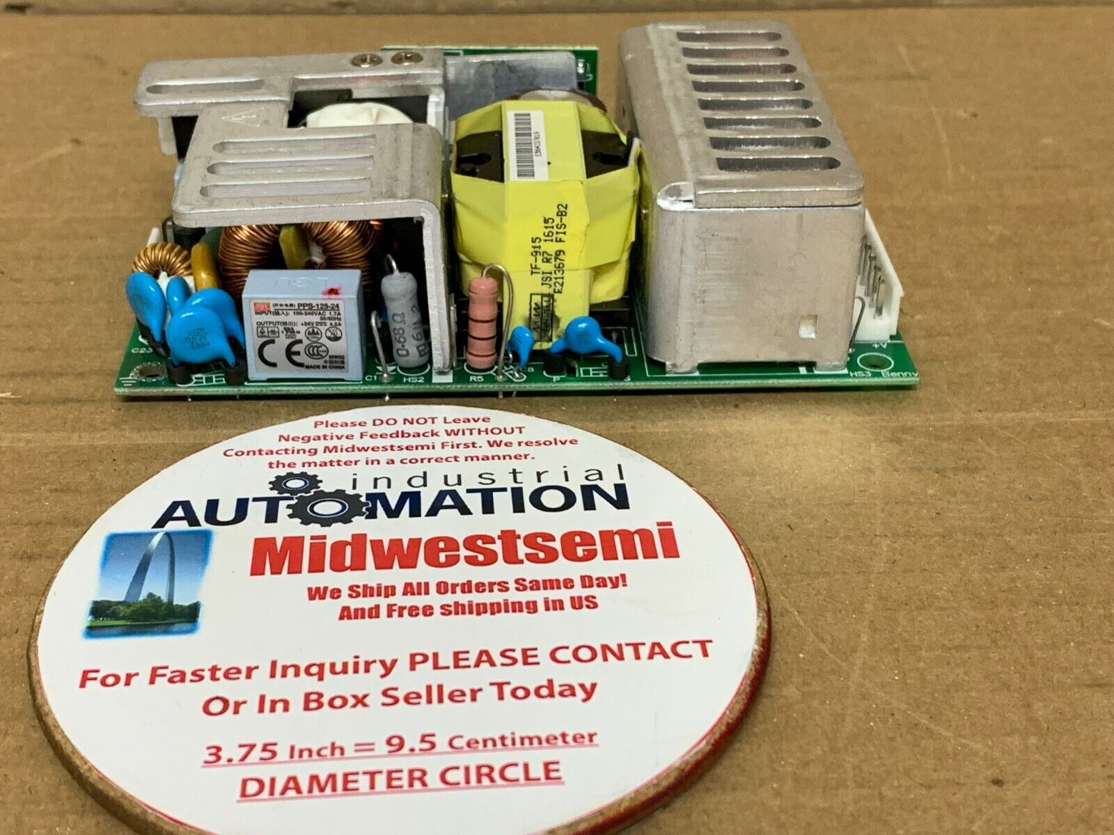 NEW E3017915 MEANWELL  PPS-125-24 POWER SUPPLY 24V 4.2A OPEN FRAME SHIPSAMEDAY