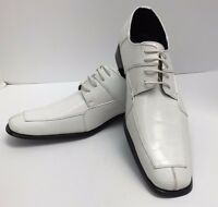 Men's White Dress Shoes With Pattern Size 15 Viotti Man Made Material