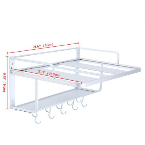 Universal Aluminum Mikrowelle Halterung Wandregal Halter Rack Microwellen Küchen