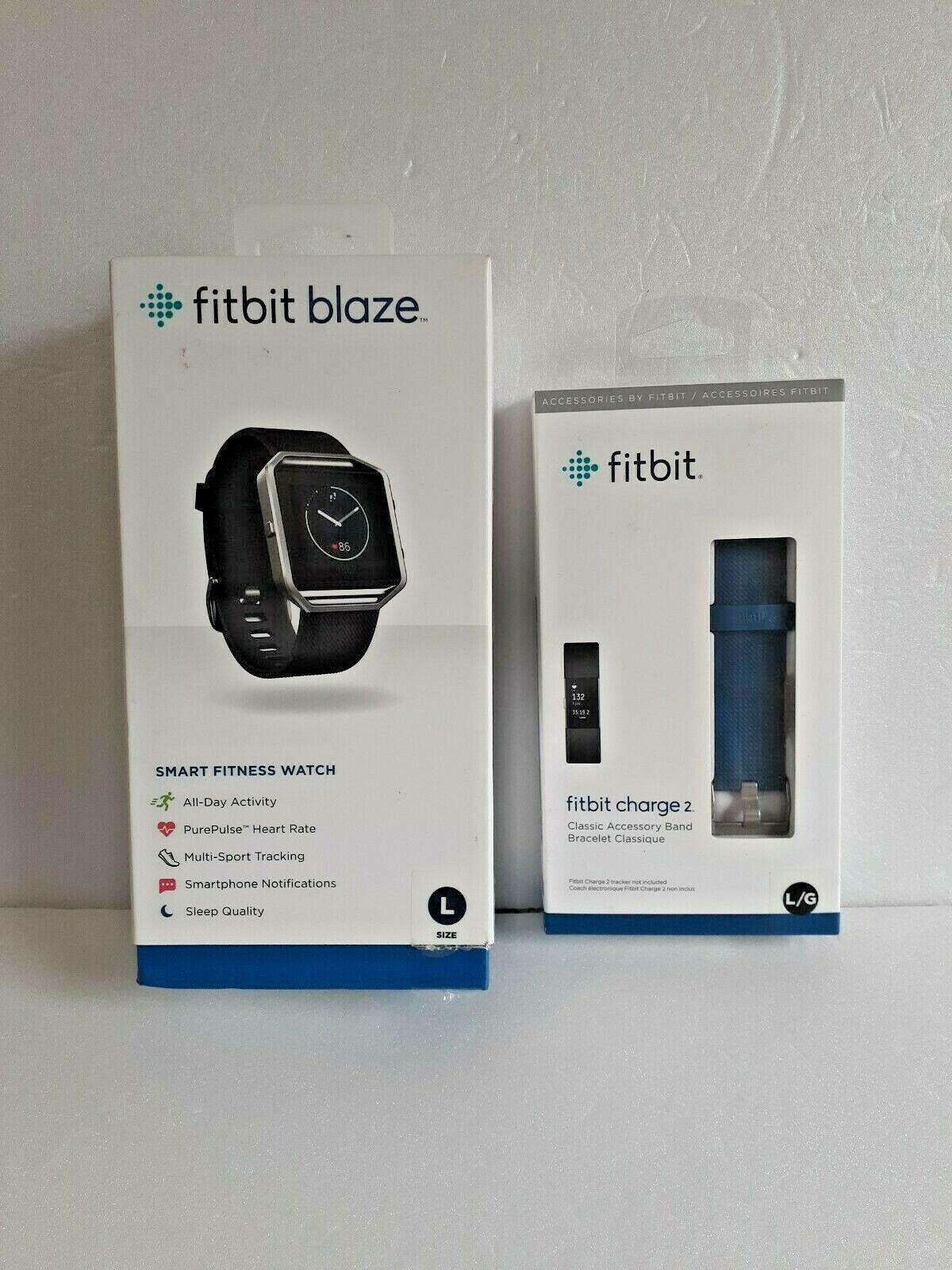 Fitbit Blaze FB502 Smart Fitness Watch Smartwatch Activity Tracker Blue Large
