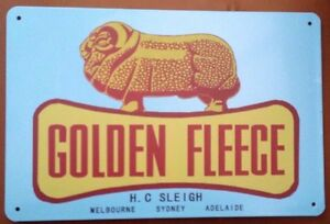 GOLDEN-FLEECE-Garage-Retro-Vintage-Metal-Tin-Sign-MAN-CAVE-AU-SELLER