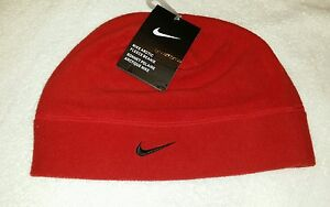 f5ae8adf3a3 NEW NIKE ARCTIC FLEECE BEANIE Sports Cap Red 1 Size Fits Most Soft ...