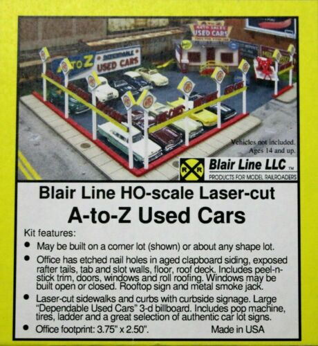 BLAIR LINES 197 HO SCALE A-Z USED CAR LOT BUILDING KIT W//METAL DETAILS FREE SHIP