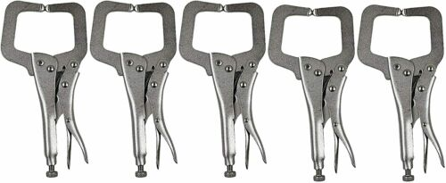 """Urbalabs 6/"""" Locking C Clamps Heavy Duty Welding Pliers Vice Grips With Out Pads"""