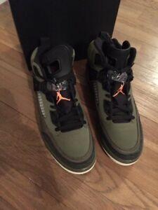 separation shoes 3b1d1 3d7af Image is loading Men-039-s-Nike-Air-Jordan-Spizike-Olive-
