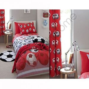 CATHERINE-LANSFIELD-FOOTBALL-RED-DOUBLE-DUVET-COVER-MATCHING-72-034-CURTAINS-KIDS