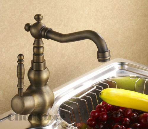 Antique Bronze Single Lever Kitchen Sink Faucet Mixer Tap with Swivel Spout A129