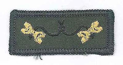 SCOUT LEADER / COMMISSIONER 2 Beads Wood Badge Embroidered Emblem Uniform Patch