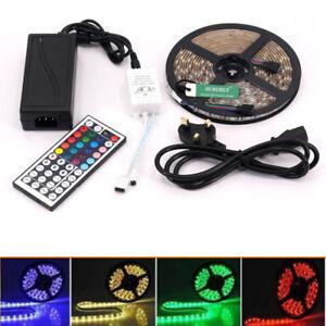 Full kit set plug play 5m 300 led rgb light strip tape remote image is loading full kit set plug amp play 5m 300 aloadofball Image collections