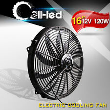 New 16''inch Push Electric Cooling Radiator Fan Engien Reversible Kits 3000cfm