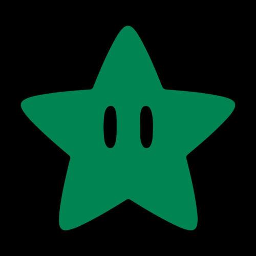"4.1/"" MARIO STAR Vinyl Decal Sticker Car Window Laptop Retro Game 64"