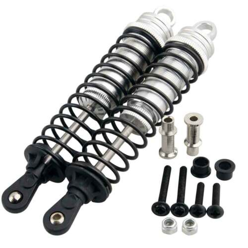 Alum 81003 Front Shock Absorber/&Mount Silver Fit RC HSP 1//8 Off-Road Buggy Truck