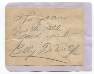 Billy-De-Wolfe-and-June-Knight-Signed-Album-Page-Autographed-Vintage-Signature