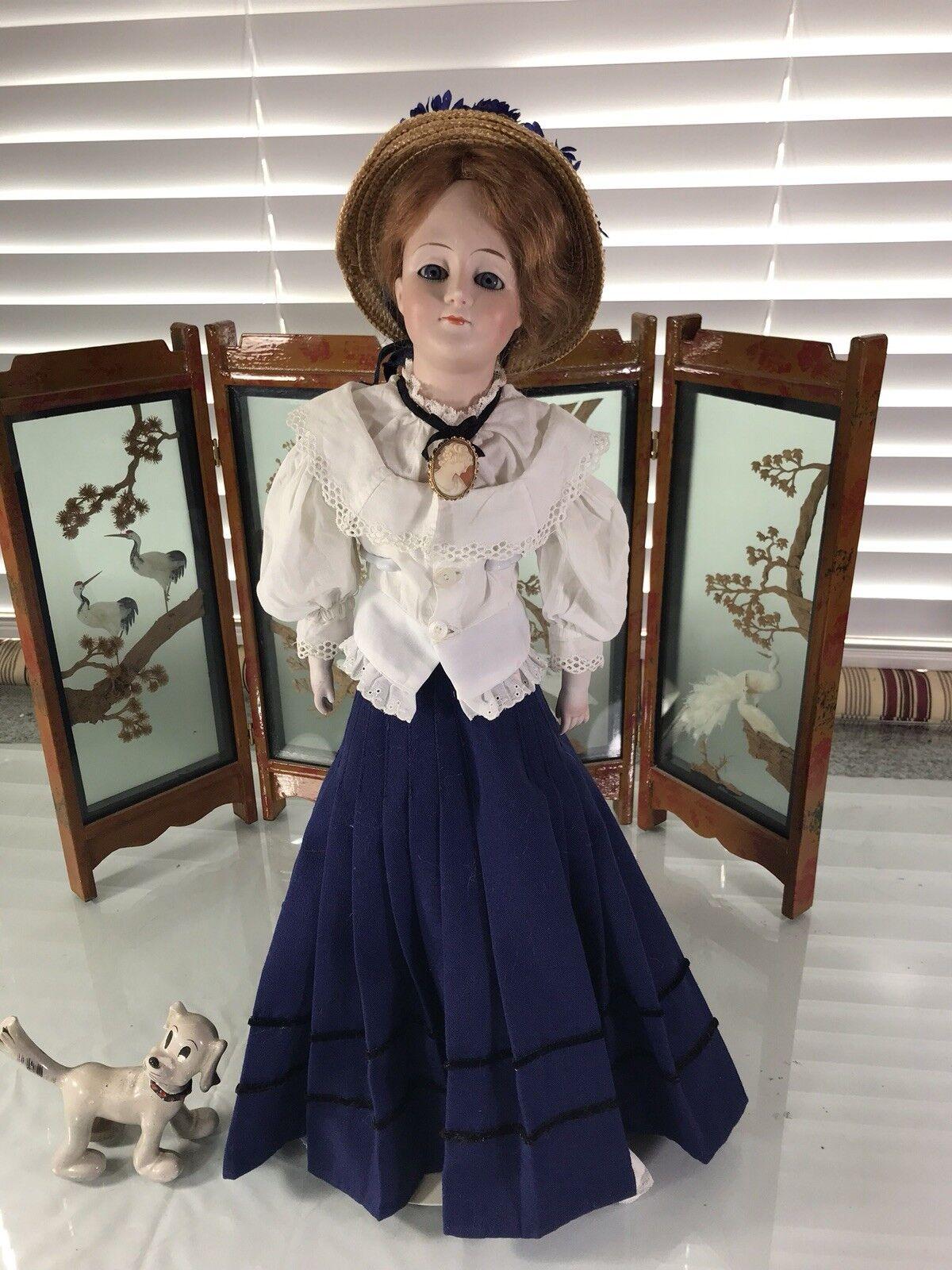 20  Antiguo Alemán cabeza de Biscuit hombro 172.5 muñeca Kestner Gibson Girl
