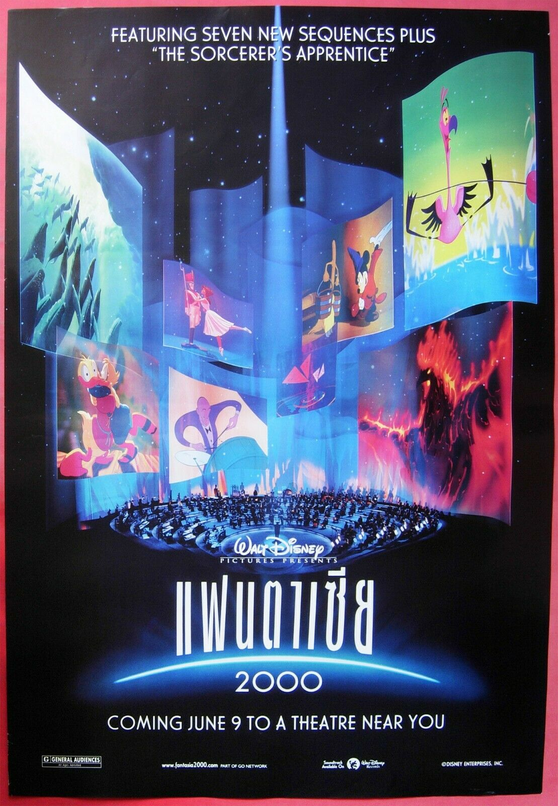 Fantasia 2000 Thai Movie Poster Walt Disney Original Ebay