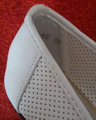 NEUE Weiße Lucky Shoes Basic Ballerina Halbschuhe mit Schleife in Größe 38