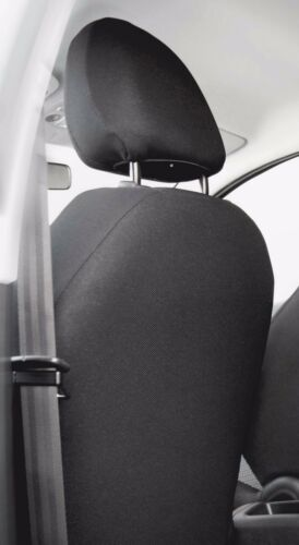 2 X cubre ajuste de asiento de coche Skoda Fabia asientos delanteros de carbón//Verde