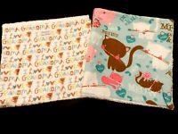 2 Burp Cloths For Baby (handmade With Care) Soft & Cute