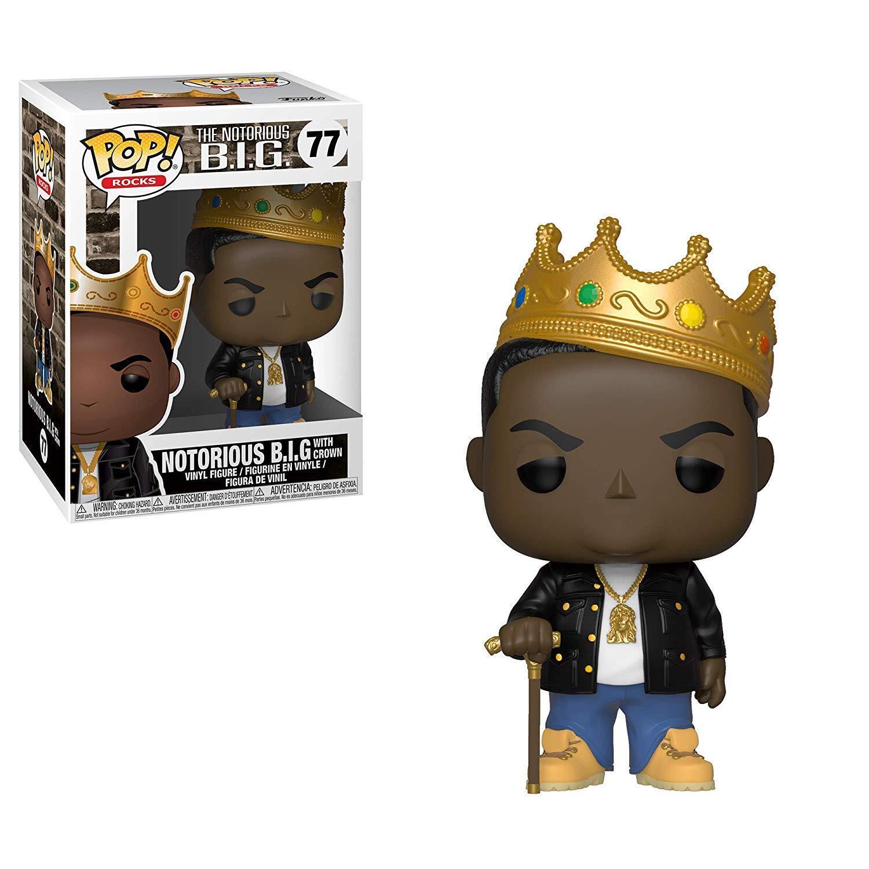 Notorious B.I.G. Crown Biggie Rap Hip Hip Hip Hop POP  Rocks  77 Vinyl Figur Funko 3a2cb6