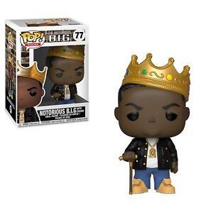 Notorious B.I.G. Crown Biggie Rap Hip Hop POP! Rocks #77 Vinyl Figur Funko
