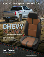 Katzkin Leather Seat Covers 2019 22 Chevrolet Silverado Crew Cab Black Walnut