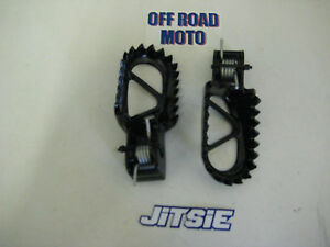 JITSIE-Trials-Bike-Footpegs-Footrests-Black-TOP-QUALITY-BARGAIN-PRICE