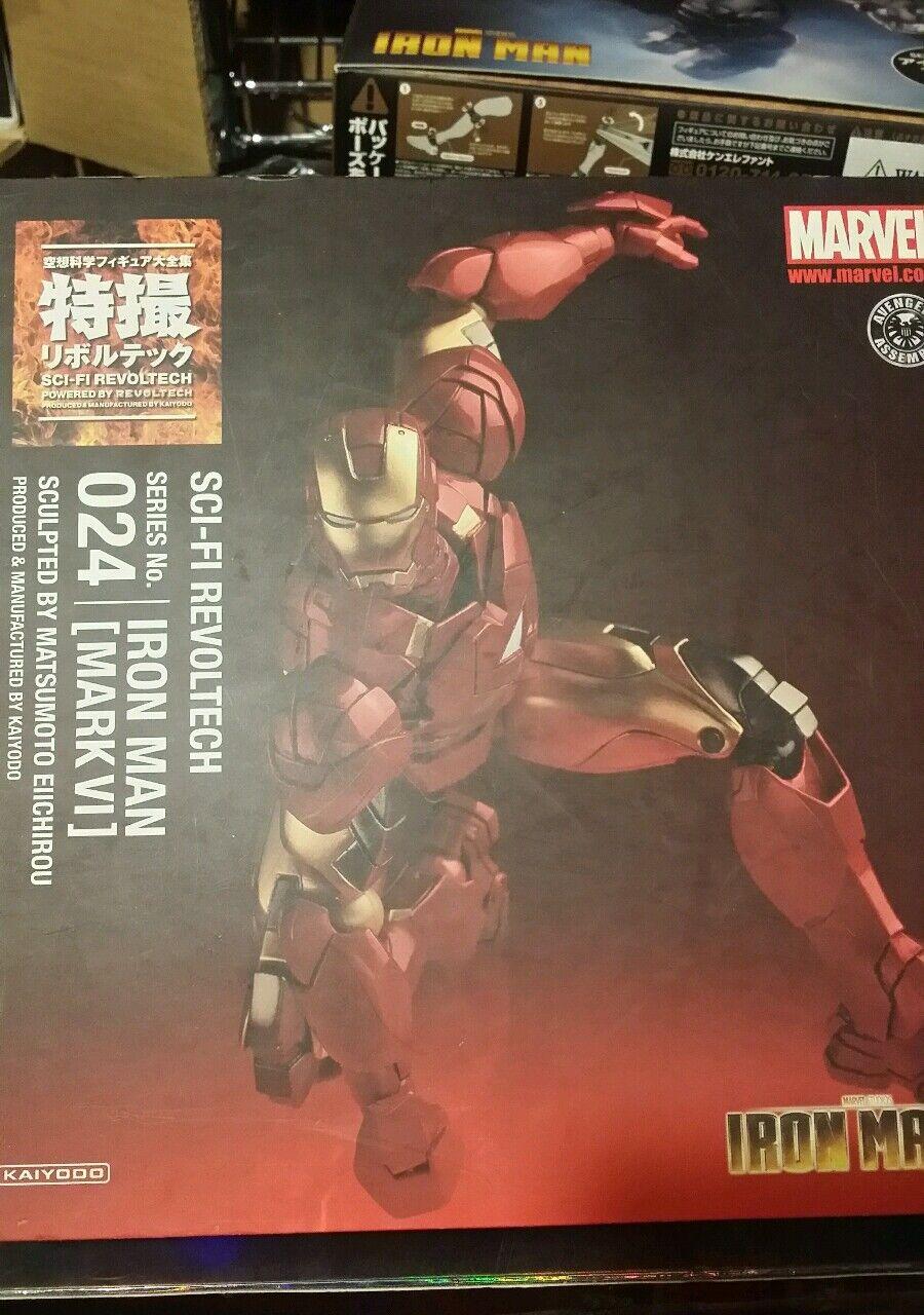 Revoltech - Iron uomo Mark VI  - Marvel Universe - Kaiyodo - Opened cifra  omaggi allo stadio