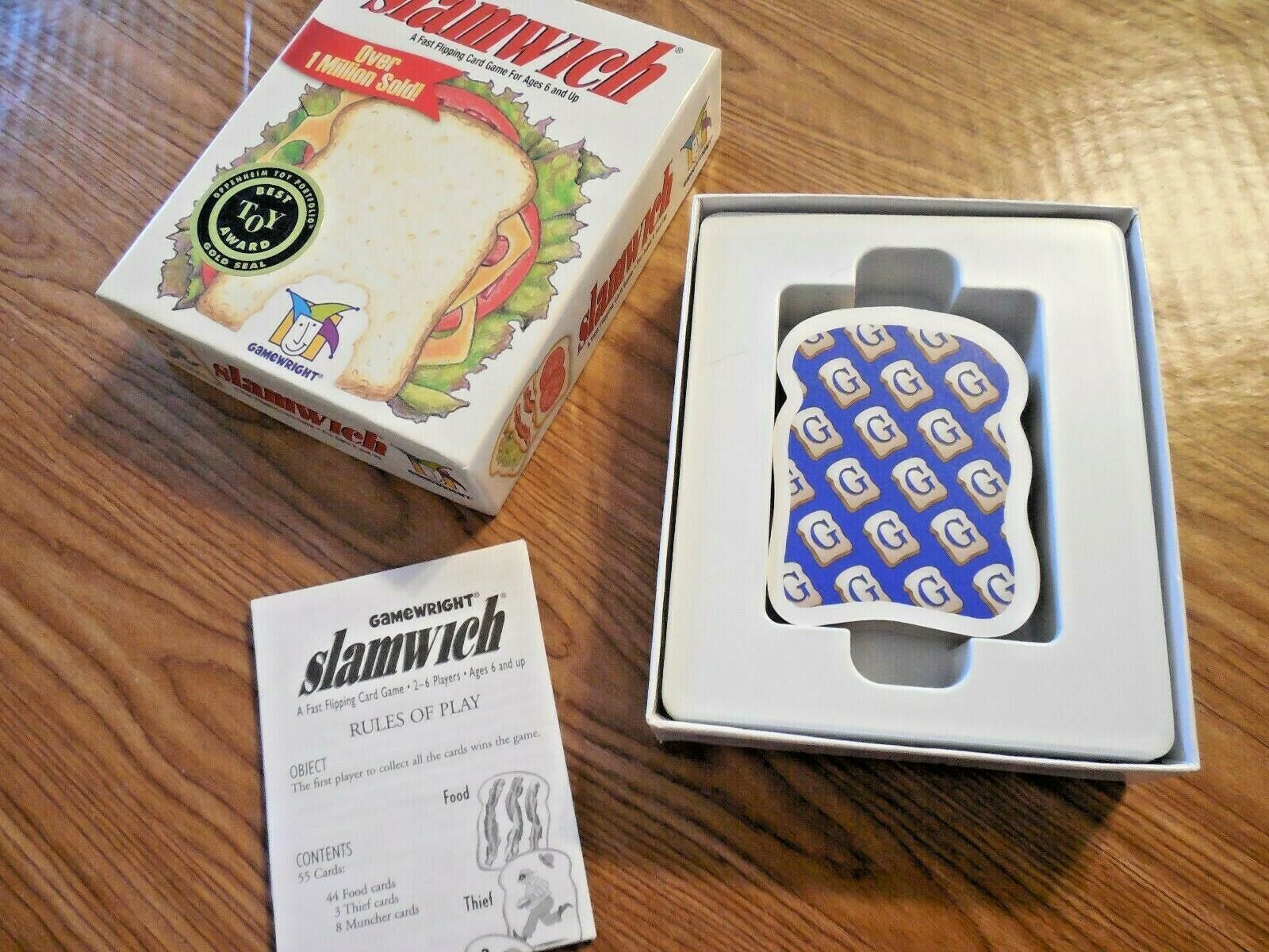 2003 Slamwich Fast Flipping Card Game Gamewright Complete S7
