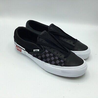 black slip on vans size 7